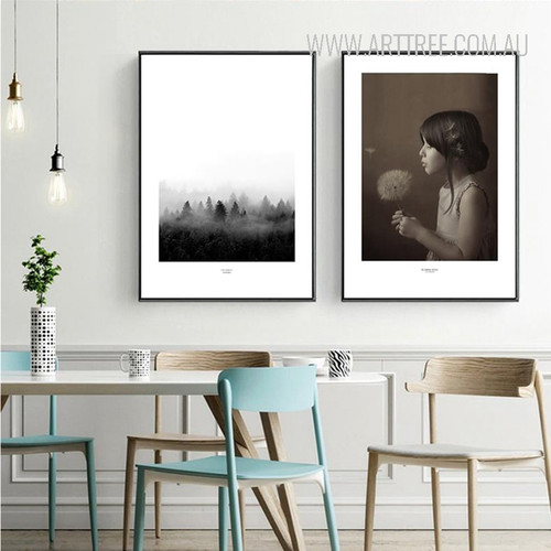 Black Forest Girl with Flower Canvas Prints