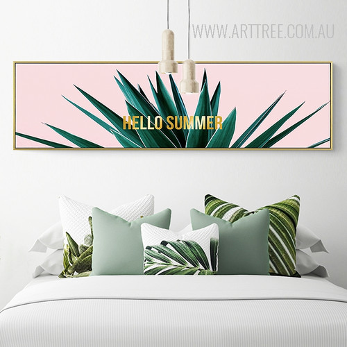 Golden Hello Summer Words Plant Life Print