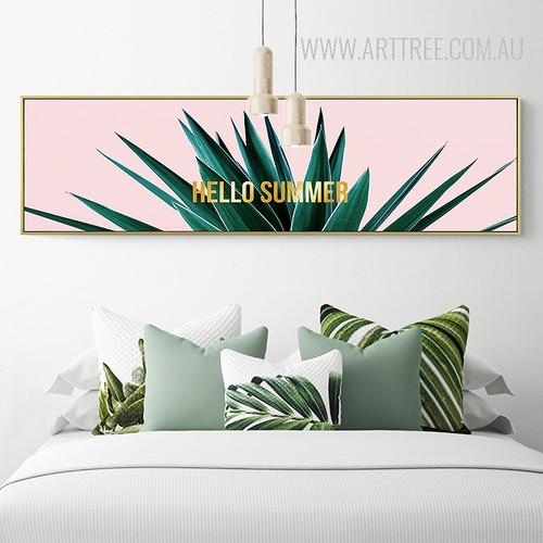 Golden Hello Summer Words Plant Life Print