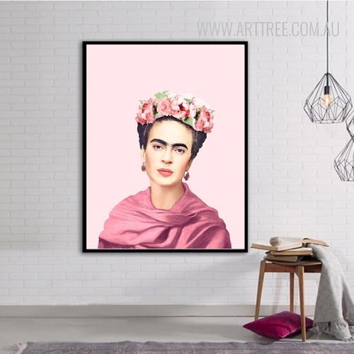 Frida Kahlo Figure Vintage Poster Print