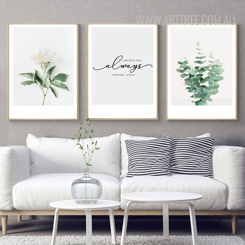 I Am With You Always Happiness Always Plant Life Quotes Art Set