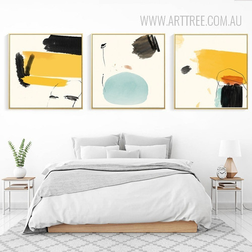 Abstract Multicolor Painted Canvas Prints