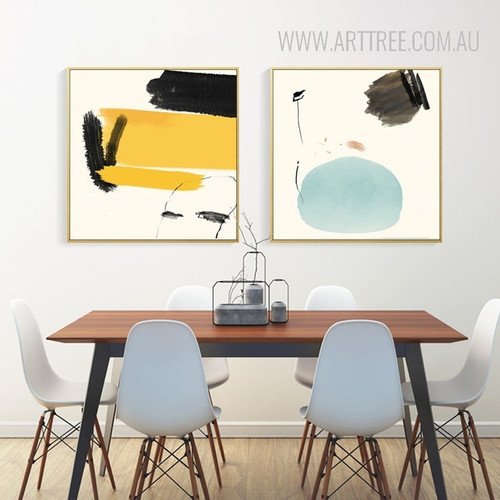 Abstract Colorful Painted Canvas Prints
