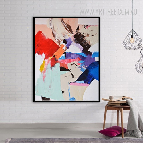 Modern Abstract Handpainted Watercolor Canvas Print