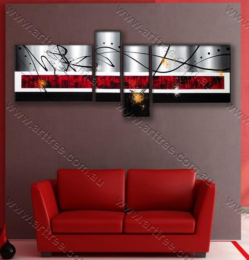 stripe painting canvas Black Streaks