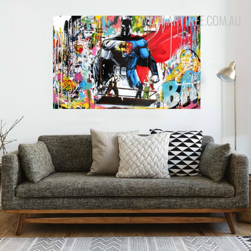 Superheroes Graffiti Wall Art