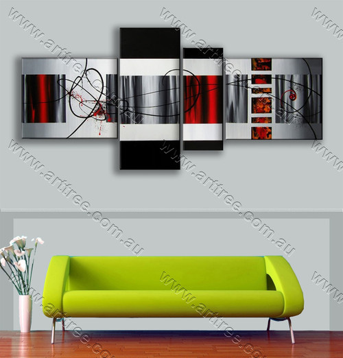 split panel painting Geometric Pattern