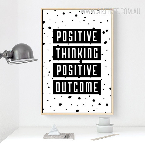 Positive Thinking Positive Outcome Motivational Quote Art