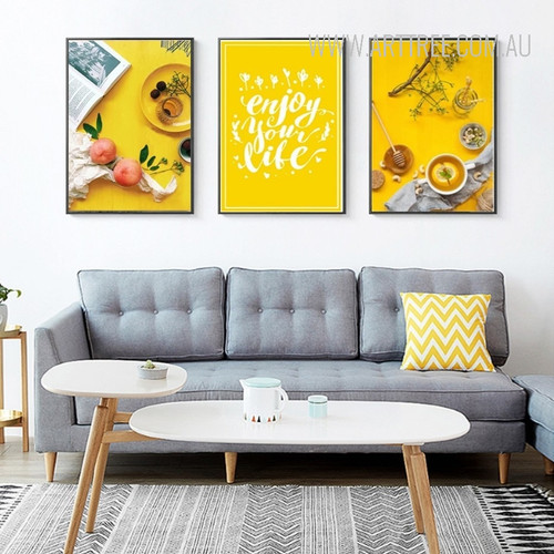 Enjoy Your Life Yellow Food Tea Wall Decor