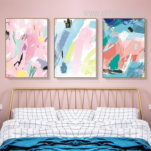 Abstract Color Strokes Canvas Painting Prints