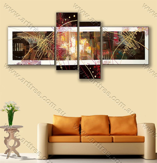 Canvas Painting Multicolor Stripes