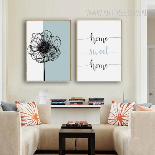 Home Sweet Home Dandelion Floral Poster Prints