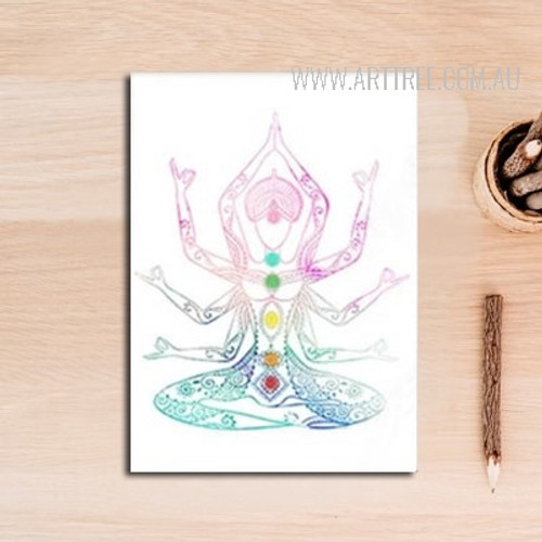 Indian Style Poster Buddha Yoga Pattern Home Decor Print