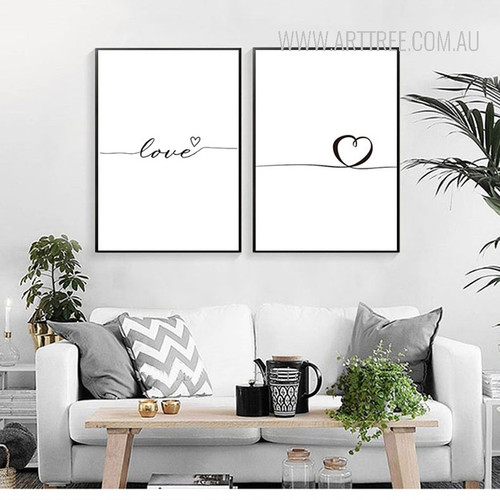 Romantic Wired Love Heart Canvas Prints
