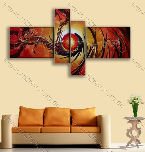 modern oil painting Dark Sun Pattern