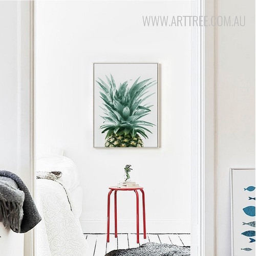 Refreshing Green Pineapple Fruit Canvas Wall Art