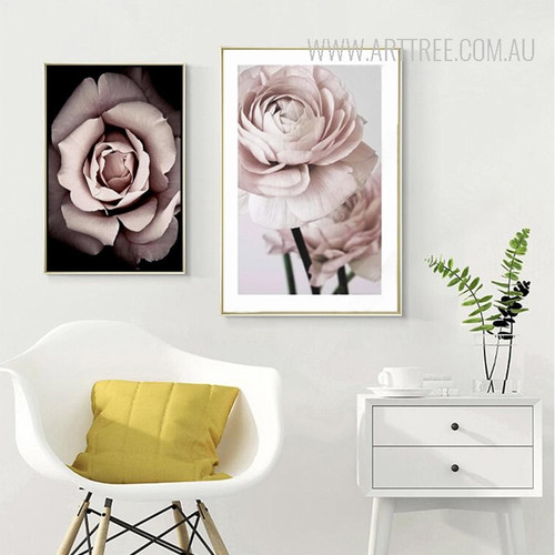 Romantic Modern Pink Rose Flowers Canvas Poster Prints