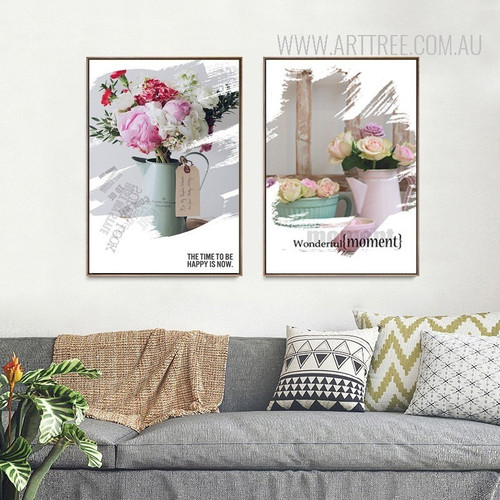 Flowers in Vase Wonderful Moment Wall Decor Prints