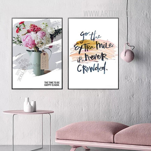 Go The Extra Miles Flowers in Vase Modern Wall Art