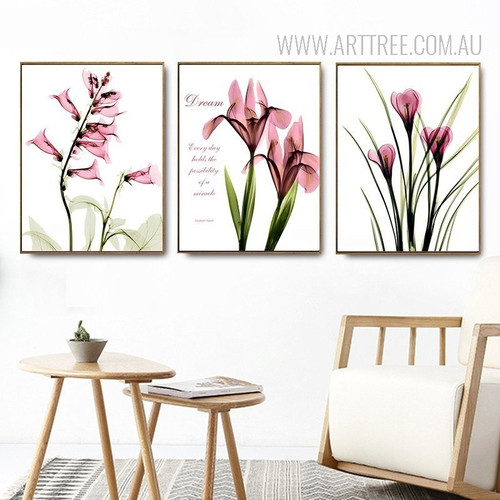 Beautiful Transparent Morning Glory Floral Canvas Art
