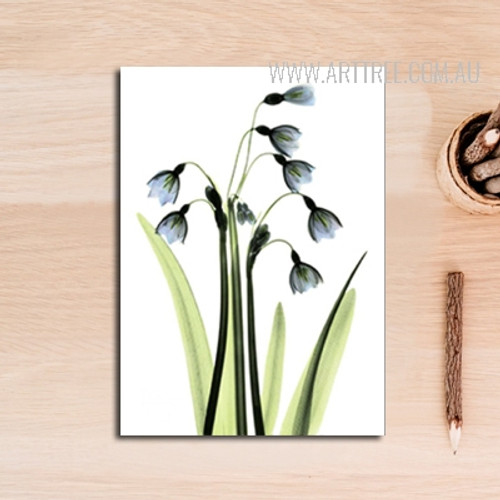 Transparent  Common Bluebell Floral Canvas Art