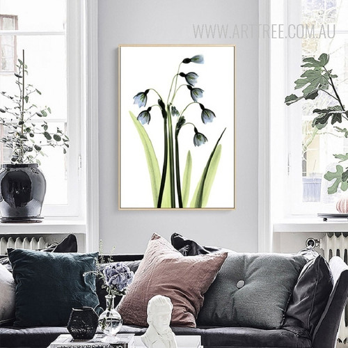 Transparent Common Bluebell Floral Wall Art