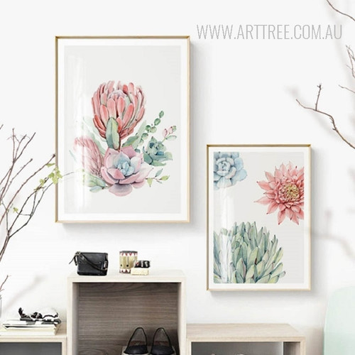 Refreshing Pink Red Peony Flower Art Print