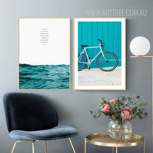 Blue Seascape Cycle Canvas Prints