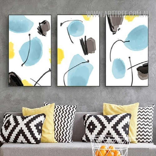 Abstract Watercolor Pattern Canvas Wall Art