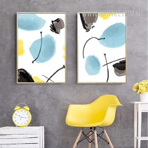 Abstract Watercolor Pattern 2 Piece Canvas Prints