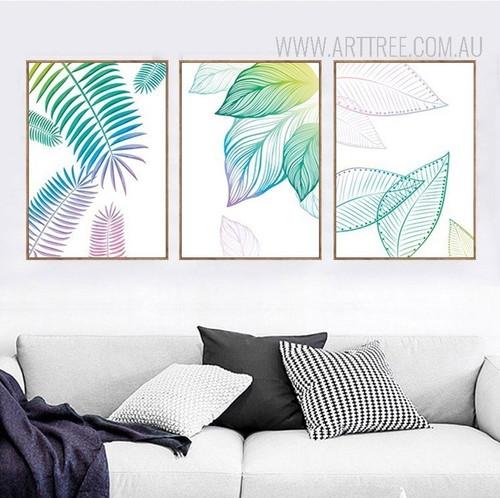 Creative Fresh Leaf Canvas Paintings Watercolor Art