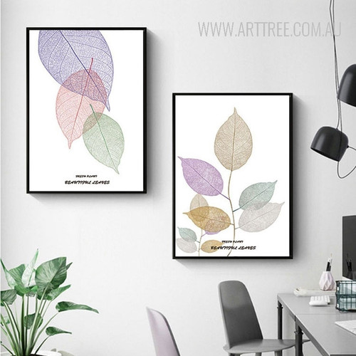 Beautiful Leaves Rolled Canvas Prints