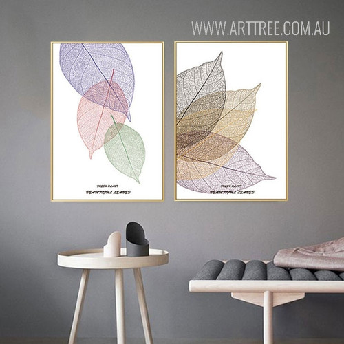 Beautiful Leaves Rolled Canvas Wall Art