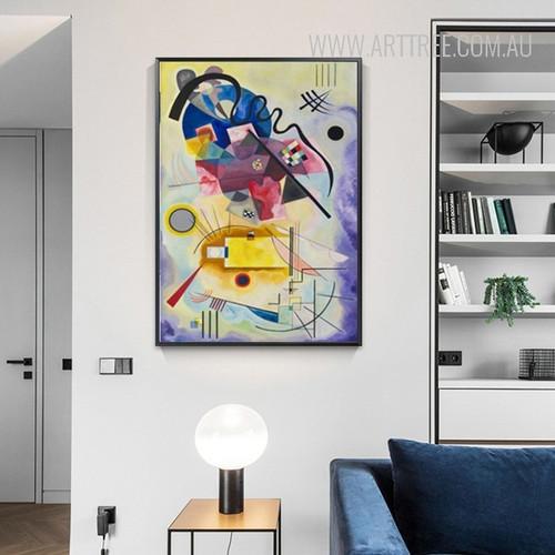 Jaune Rouge Bleu Wassily Kandinsky Digital Painting