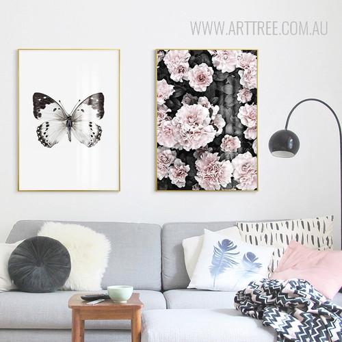 Butterfly Pink Azalea Floral Wall Art