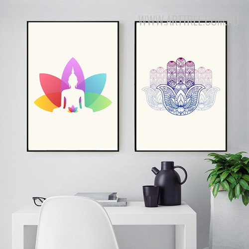 Indian Yoga Style Minimalist Art Prints