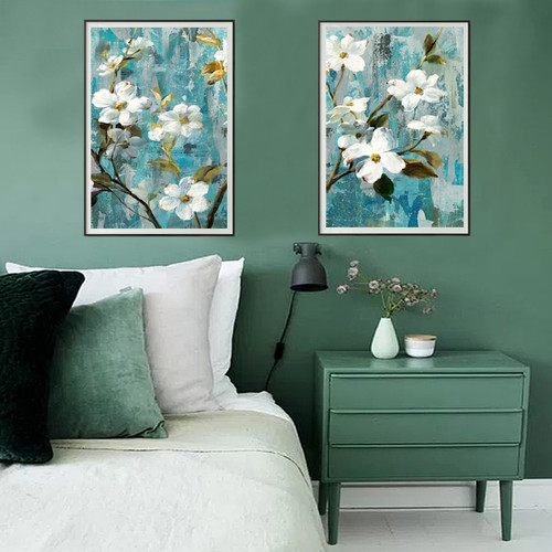 White Buttercup Floral Digital Painting Set
