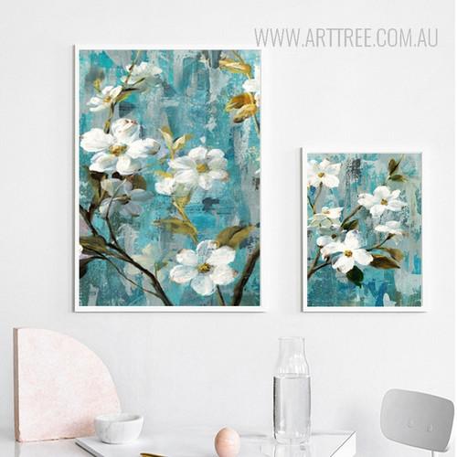 White Buttercup Floral Digital Print
