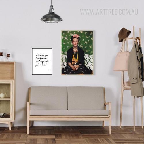 Pies Pa Que Farida Kahlo Quote Art Set