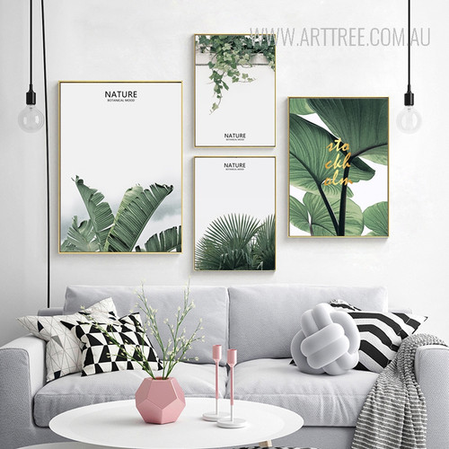 Nature Botanical Mood Tropical Green Leaf Art