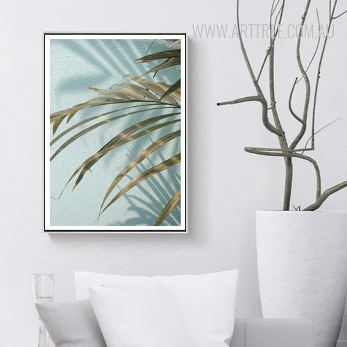 Tropical Green Long Leaves Print
