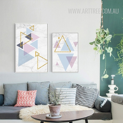 Colorful Abstract Triangles Geometric Pattern Art