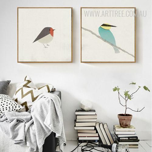 Nordic Cute Birds Kingfisher Bee Eater Design Scandinavian Prints