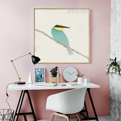 Green Kingfisher Bee Eater Design Scandinavian Print