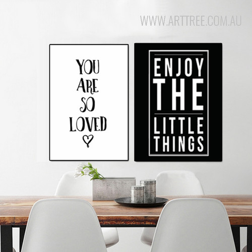 So Loved Enjoy Little Things Cartoon Letters Nursery Wall Art