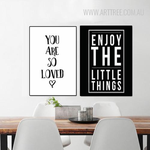 So Loved Enjoy Little Things Cartoon Letters Nursery Wall Art