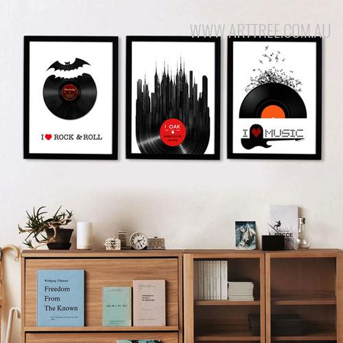 I Love Rock and Roll Music Modern Art Prints