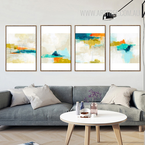 Abstract Sky Multicolor Cloud Watercolor Art for Gifting