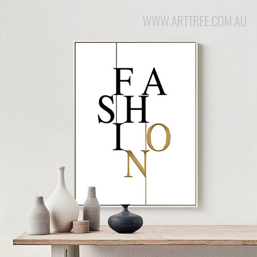 Modern Fashion Letters Wall Art