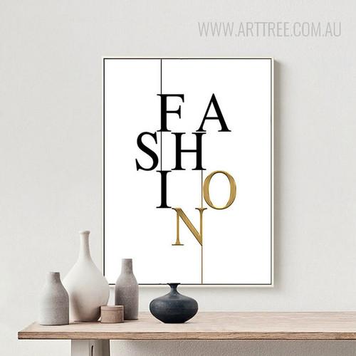 Modern Fashion Letters Wall Art